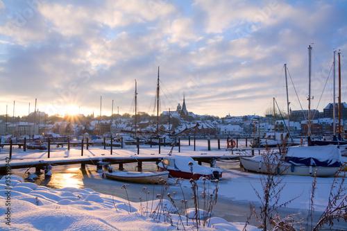 Flensburg w zimie