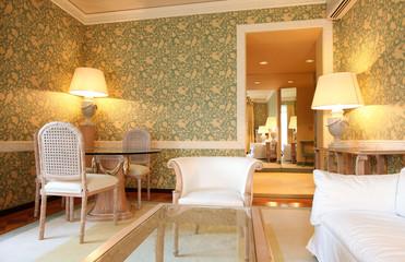 suite di hotel di lusso. Interno.