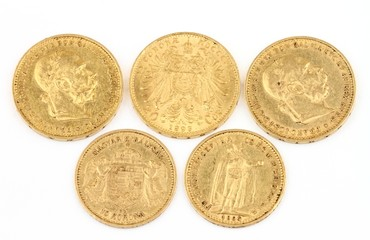 Old gold coins