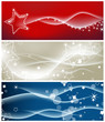 Light waves and sparkling stars backgrounds