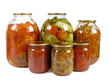 Home canning. Pickles is isolated on a white background