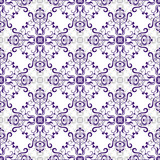White seamless pattern with rhombuses poster