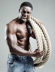 Aggressive black man