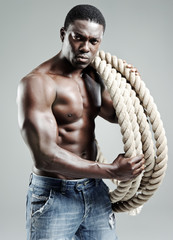 Black man and rope