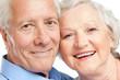 Happy aged couple portrait