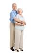 Happy loving seniors