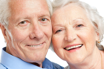 Happy aged couple portrait