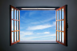 Fototapeta Spójrz na błękitne niebo