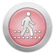 "Light Colored Icon (Red) ""Pedestrian Crossing"""