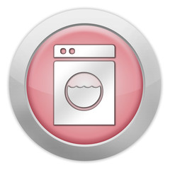 "Light Colored Icon (Red) ""Laundromat"""