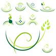 verzierungen - grün set5
