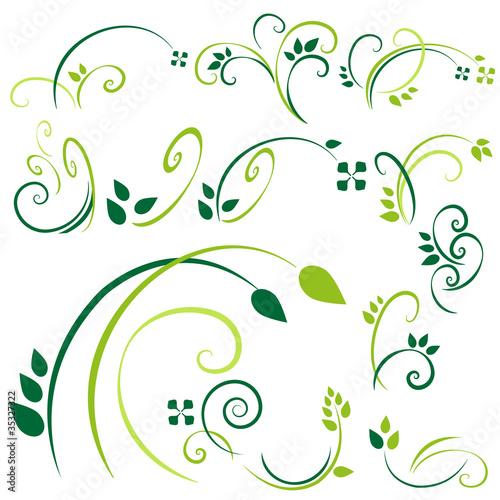 verzierungen - grün set4