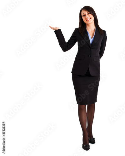 Smiling businesswoman. Copy space