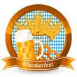 goldenes Oktoberfest-Logo