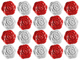 Wax Roses Seals Background