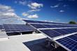 Leinwanddruck Bild - Solaranlage auf Dach