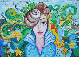 Sea art portrait of a girl