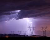 Fototapeta pogoda - sztorm - Noc
