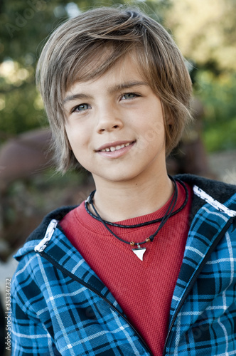 Photo: Cute young boy