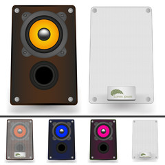 set of speaker for your design. Music illustration