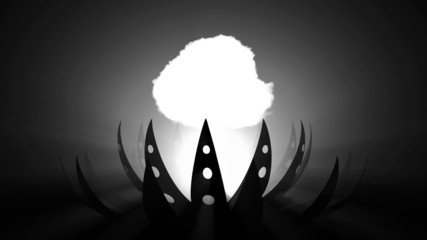 alien flower nuke blast b/w loop