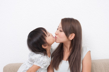 ママとキス