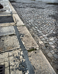Old Parisian street floor