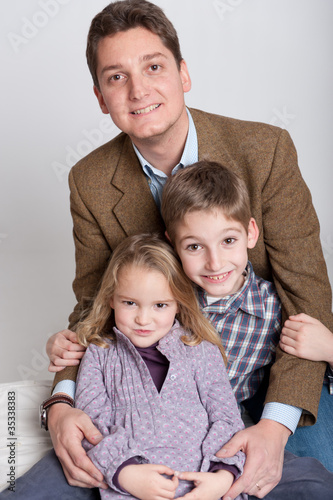 Dad with children