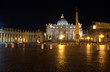 Italy.Rome.Vatican.Saint Peter's Square at night