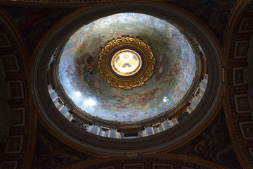 Dome of St Peter's Basilica, from within. Vatican.