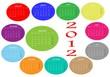 Calendario de colores 2012