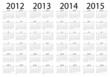 calendario año 2012-2013-2014-2015