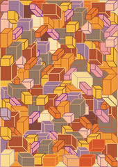 abstract background made of funny color blocks