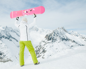 Snowboarder in Swiss Alps