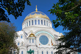 Naval cathedral of Saint Nicholas in Kronstadt, Russia poster