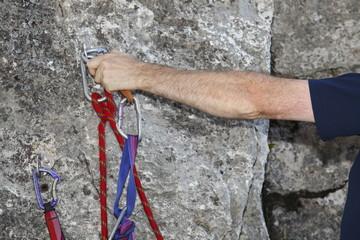 Seilsicherung einhängen
