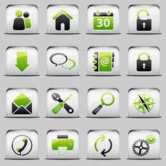 button White_green Web