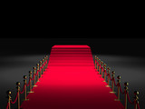 Fototapety Tapis rouge 3D - Podium marches