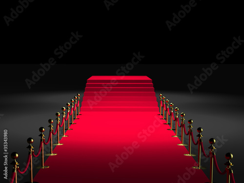 tapis rouge 3d podium marches photo libre de droits. Black Bedroom Furniture Sets. Home Design Ideas