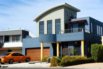 Beautiful modern house, new architecture