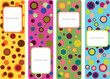abstract color banner designs with bubbles