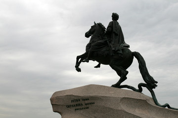 Monument of emperor Peter the Great Saint Petersburg, Russia