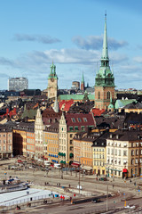 Day view of the old town - Gamla Stan, Stockholm, Sweden