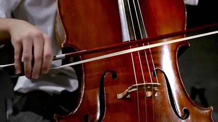 violoncello, particolare