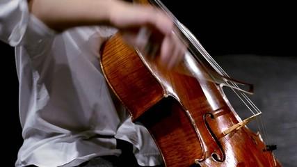 violoncello, tecnica