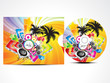 abstract colorufl musical cd cover