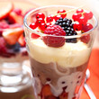 Fruit dessert in a glass