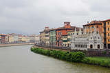 Pisa and the Arno river poster