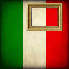 Bandiera italiana con cornice personalizzabile