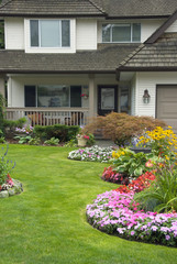 Manicured Yard and Home